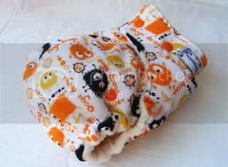 One Size Bamboo Fitted Cloth Diaper *HALLOWEEN Ooga