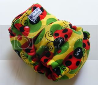 One Size  Fitted Cloth Diaper Ladybugs