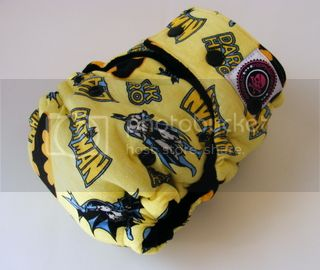 One Size  Fitted Hybrid Cloth Diaper XTREME Batman