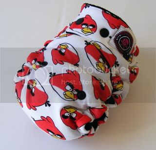 One Size  Fitted Hybrid Cloth Diaper XTREME Angry Birds