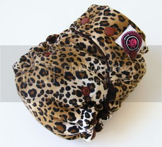 One Size  Fitted Hybrid Cloth Diaper XTREME Leopard