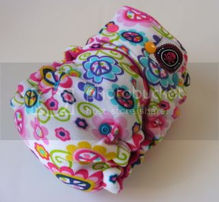 One Size  Fitted Hybrid Cloth Diaper XTREME Peace N Love