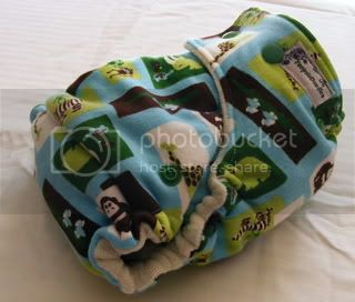 One Size Bamboo Fitted Cloth Diaper *Mint Chocolate Zoo
