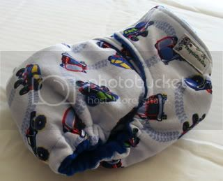 One Size Bamboo Fitted Cloth Diaper *Robots