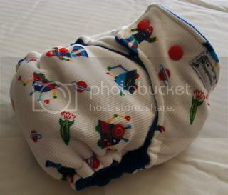 One Size Bamboo Fitted Cloth Diaper *Aliens