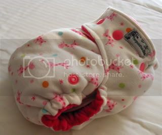 One Size Bamboo Fitted Cloth Diaper *Gumball Giraffe
