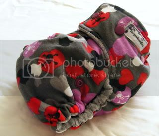 One Size Bamboo Fitted Cloth Diaper *Girly Skulls