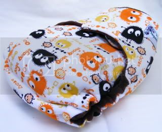 **CLEARANCE** One Size Bamboo Fitted Cloth Diaper *SNAPLESS Fall Ooga