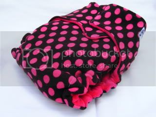**CLEARANCE** One Size Bamboo Fitted Cloth Diaper *SNAPLESS Pink Polkadot
