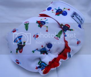 One Size Bamboo Fitted Cloth Diaper *SECOND Robots