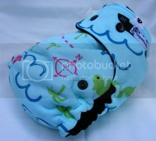 One Size Bamboo Fitted Cloth Diaper *Ahoy