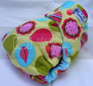 One Size Bamboo Fitted Cloth Diaper *Flowery Dream