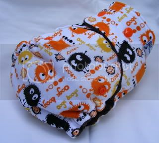 One Size Bamboo Fitted Cloth Diaper *Fall Ooga