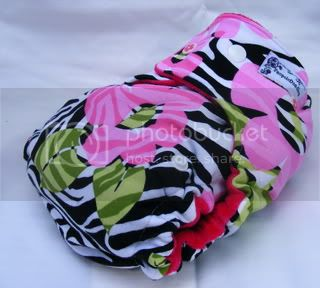 One Size Bamboo Fitted Cloth Diaper *Jungle Flower