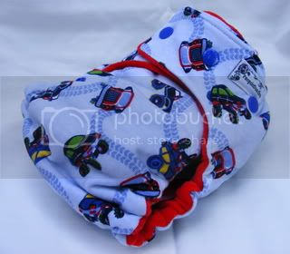One Size Bamboo Fitted Cloth Diaper *Trucks