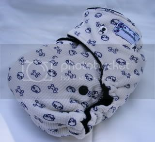 One Size Bamboo Fitted Cloth Diaper *Jolly Waffler