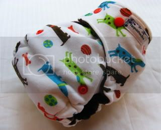 One Size Bamboo Fitted Cloth Diaper *Weiner Dogs