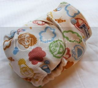 One Size Bamboo Fitted Cloth Diaper *Sesame Street
