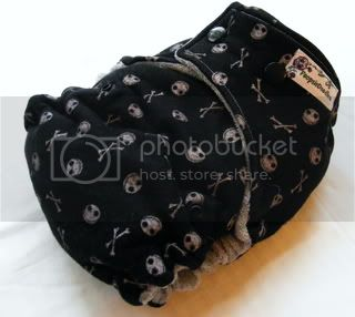 One Size Bamboo Fitted Cloth Diaper *Nightmare Jack CUSTOM!