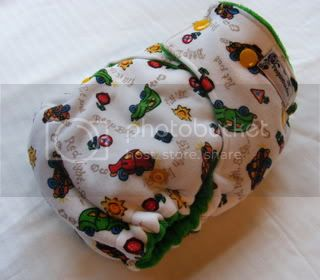 One Size Bamboo Fitted Cloth Diaper *Zoom