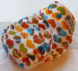 One Size Bamboo Fitted Cloth Diaper *Swirling Love