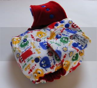 One Size Extreme Fitted Cloth Diaper Rainbow Ooga Booga