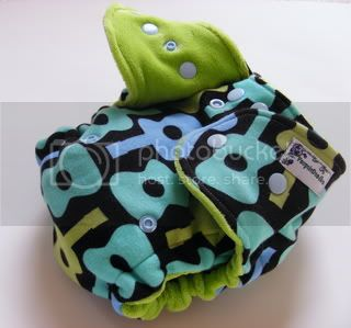 One Size Extreme Fitted Cloth Diaper Guitars