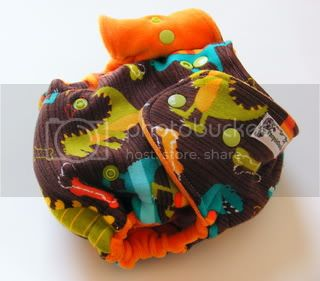 One Size Extreme Fitted Cloth Diaper Dinosaurs