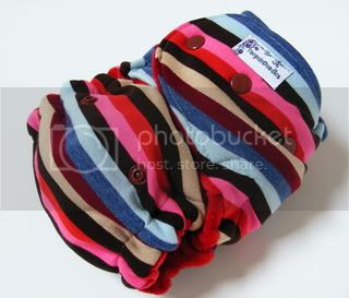 One Size  Fitted Cloth Diaper Pink Stripe