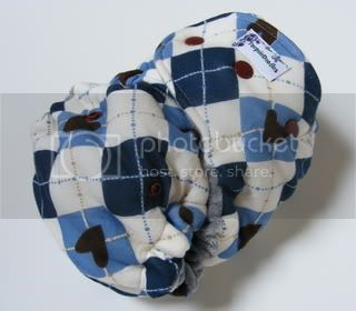 One Size  Fitted Cloth Diaper Blue Argyle