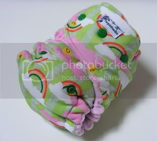 SALE One Size  Fitted Cloth Diaper Happy Rainbows