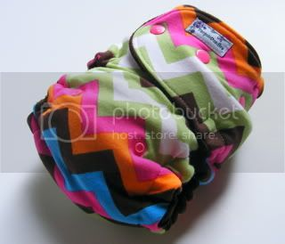 One Size  Fitted Cloth Diaper Wizzy Rainbow