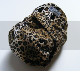 One Size  Fitted Cloth Diaper Leopard 