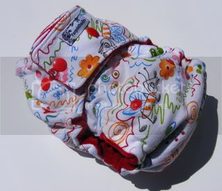 One Size  Fitted Cloth Diaper Doodles