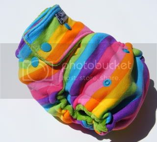 CUSTOM LISTING FOR HILLARY HANDY One Size  Fitted Cloth Diaper Rainbow Brights