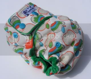 One Size  Fitted Cloth Diaper Apples