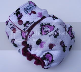 One Size  Fitted Cloth Diaper Hello Kitty Poodles