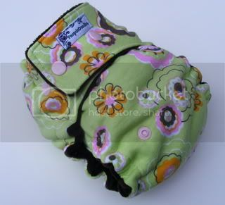 SALE!!! One Size  Fitted Cloth Diaper Groovy Flowers