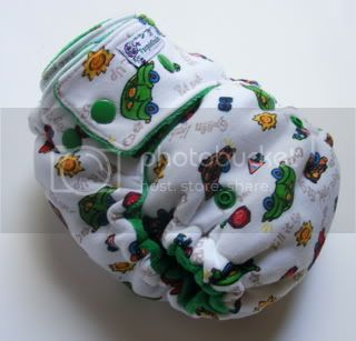 One Size  Fitted Cloth Diaper Zoom