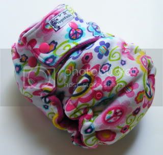 One Size  Fitted Cloth Diaper Peace &amp; Love