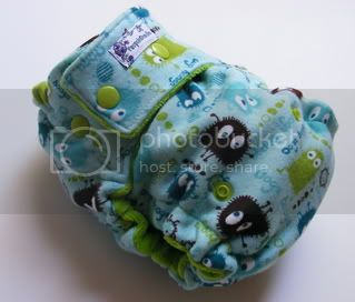 One Size  Fitted Cloth Diaper Aqua Ooga