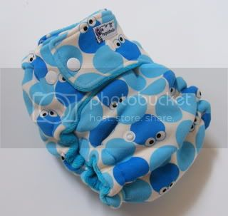 One Size  Fitted Cloth Diaper monsters