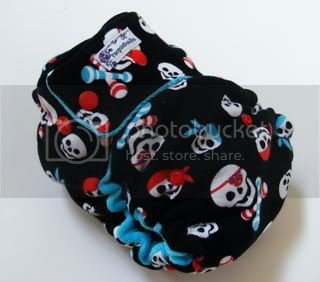 One Size  Fitted Cloth Diaper Pirate Babies