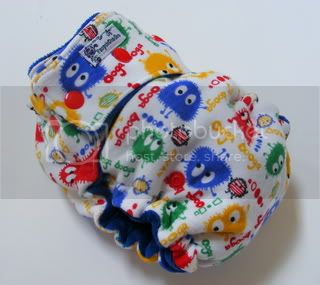 One Size  Fitted Cloth Diaper Rainbow Ooga
