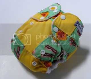 One Size AI2 Cloth Diaper Bacon N Eggs Scrapsiedoodle