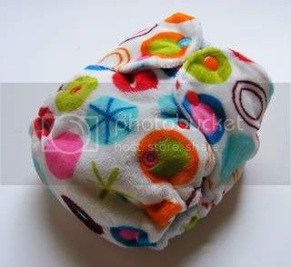 One Size AI2 Cloth Diaper Disco Dots Minky