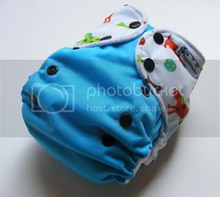 One Size AI2 Cloth Diaper Wiener dogs on Aqua