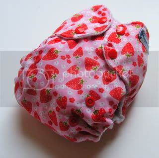 One Size AI2 Cloth Diaper Strawberries