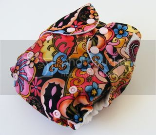 One Size AI2 Cloth Diaper Flowery Garden
