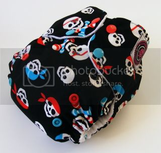One Size AI2 Cloth Diaper Pirate Babies